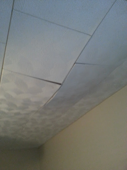 how would i fix drooping ceiling tiles