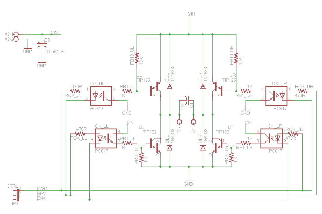 H Bridge Circuit Diagram With Forward Reverse