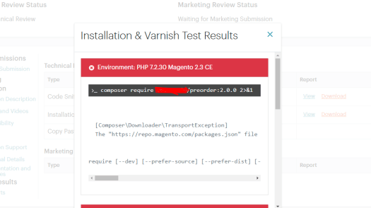 Magento Marketplace Installation & Varnish Test Results