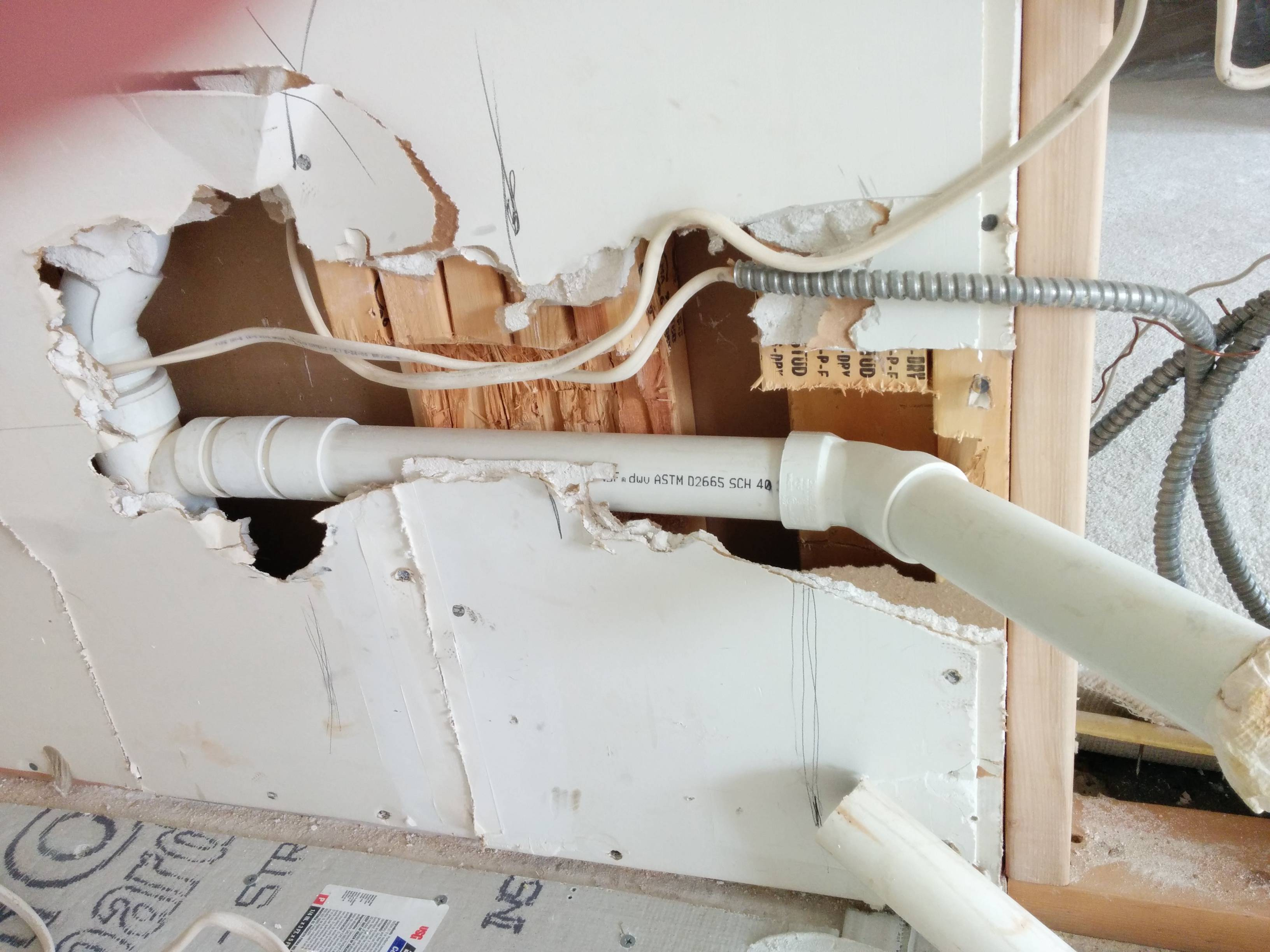 Walls Plumbing Cuts Through Five Studs Is Ok Home