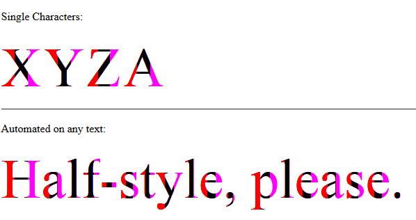 halfStyle - Vertical 1/3 Parts - No Text Shadow
