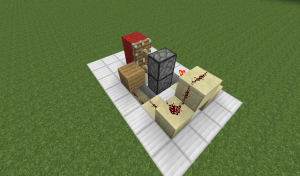 minecraft redstone  Super pact piston door with button and pressure plate  Arqade