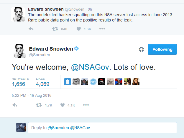 "Snowden Tweets Officially in links with the ""The Equation Group's"" files"