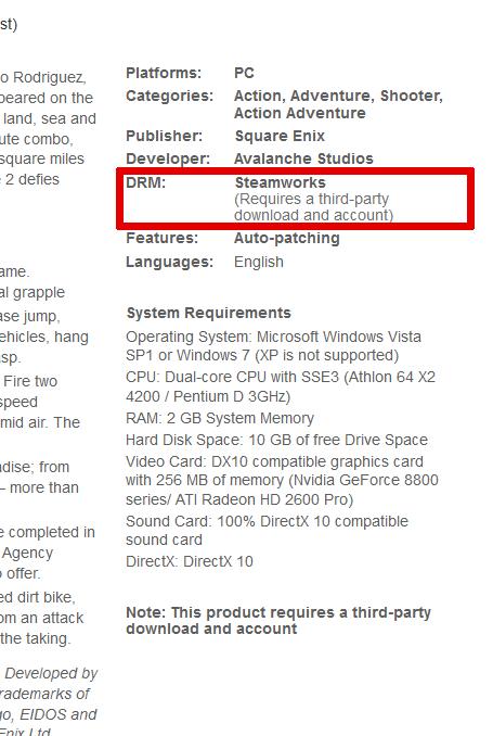 Just Cause 2 Steam Keys On Gamersgate Arqade