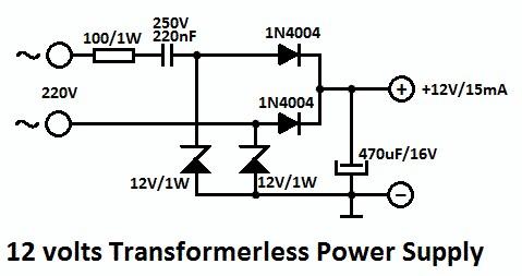 Imagini pentru 220v-12v circuit
