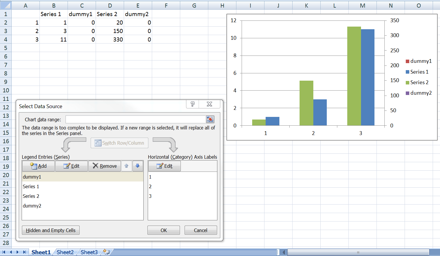 Excel Secondary Axis Bar Chart Overlap