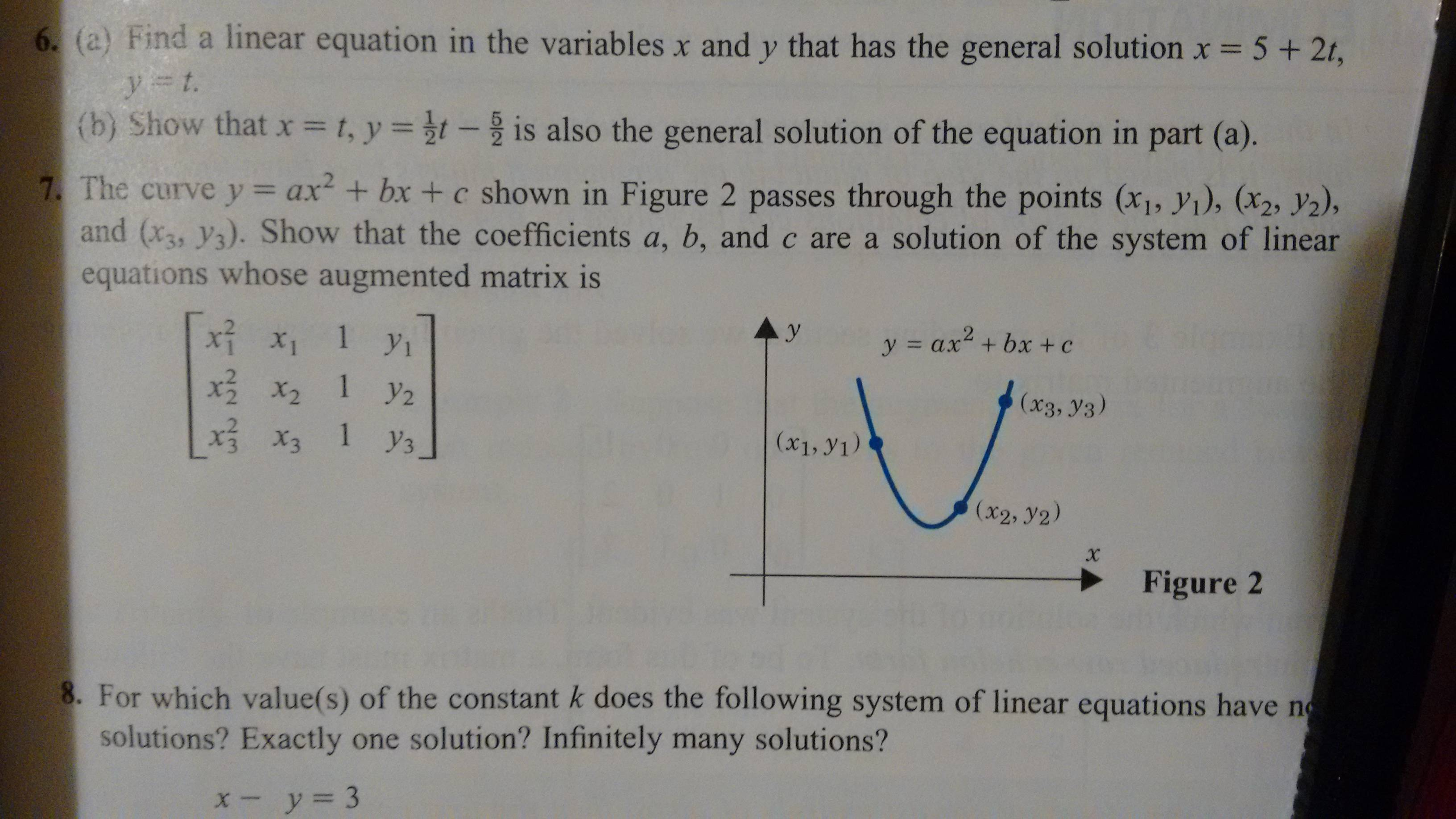 System Of Linear Equations Matrix Infinite Solutions