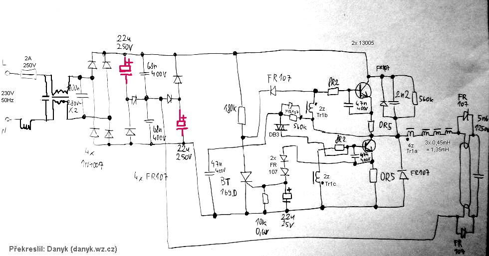 Serial Capacitors In Electronic Ballast Of A