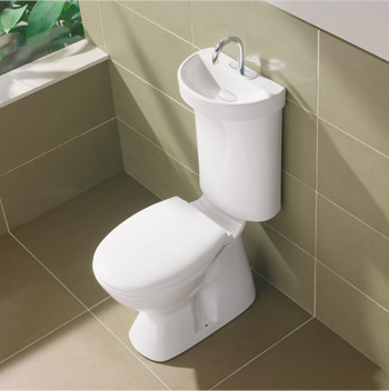 switching to toilet sink combo