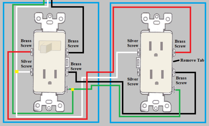 schema light switch outlet wiring diagram hd quality