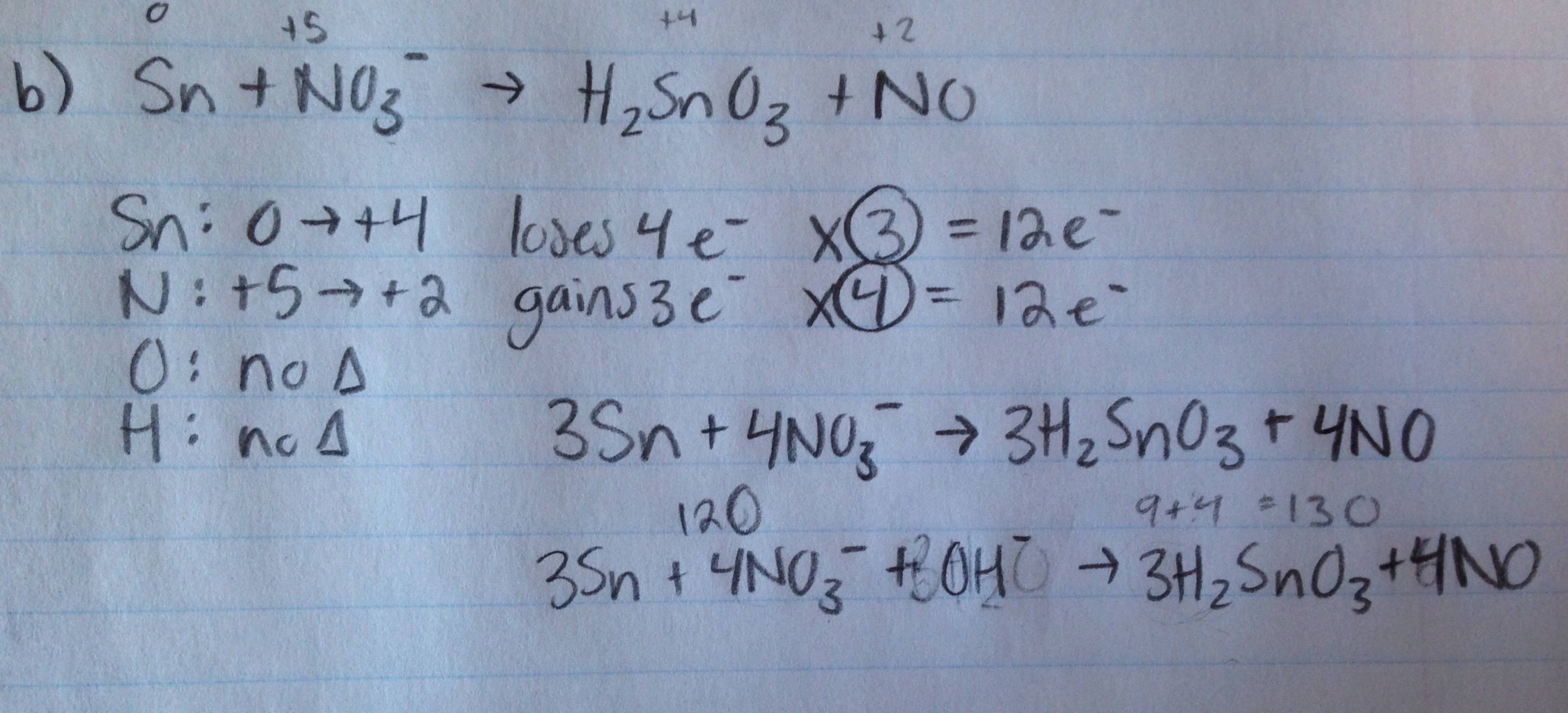 Electrochemistry Homework Problem Set