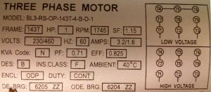 The leads of my 3phase motor are incorrectly labeled How do I determine the correct labels