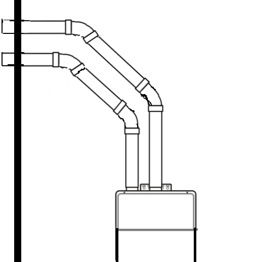 tankless water heater venting home