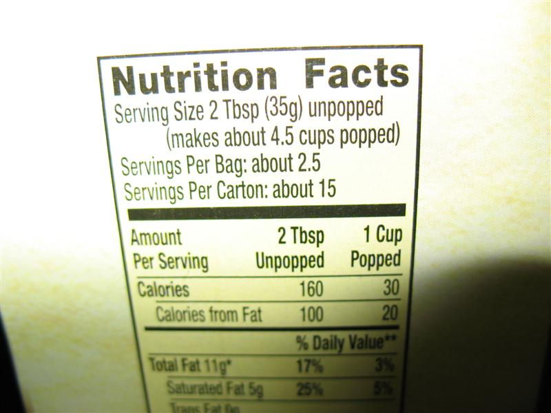 Nutrition Does Popped Popcorn Have Less Calories Than