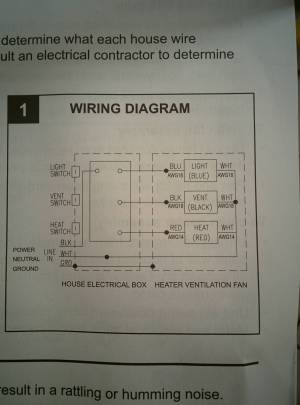 electrical  Wiring Bathroom Exhaust Fan With Heater  Home Improvement Stack Exchange