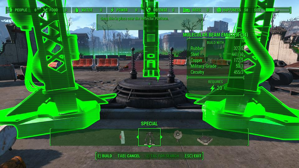 Fallout 4 Problem Building The Signal Interceptor During