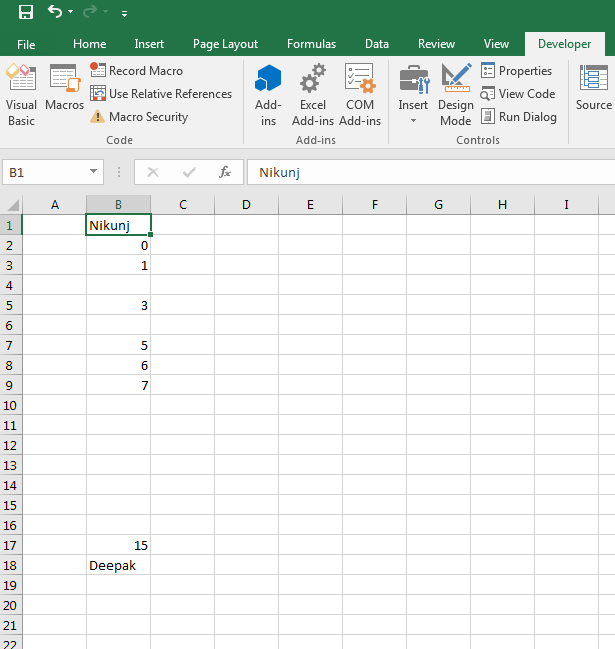 Excel Vba Range Address