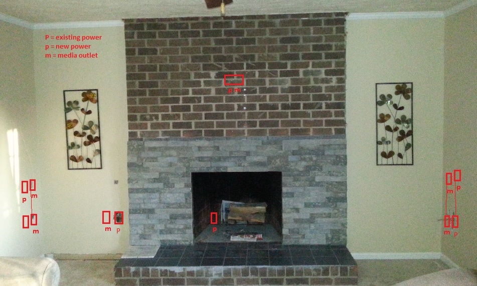 Electrical For Built-ins And Fireplace Insert