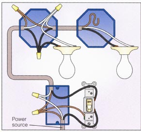 electrical  How to connect multiple light fixtures to one