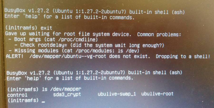 Boot Mistakenly Renamed Lvm Volume Group Now Ubuntu Wont
