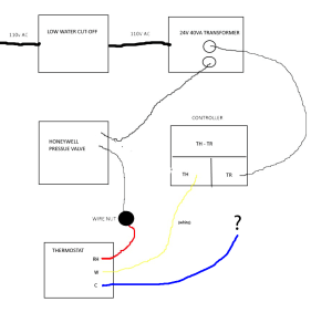 wiring  Where to connect Cwire on old furnace (diagram