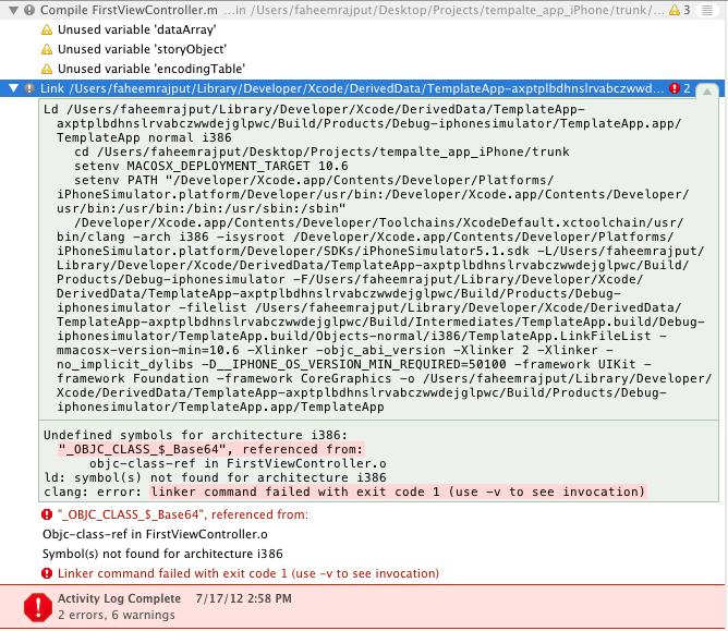 Clang Error Exit Code 1