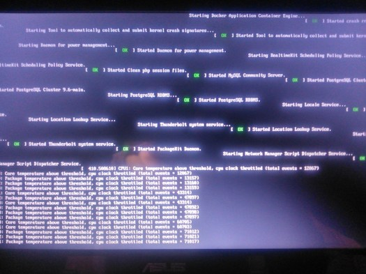 StackBounty: #boot #18 04 #temperature Booting stops on black screen