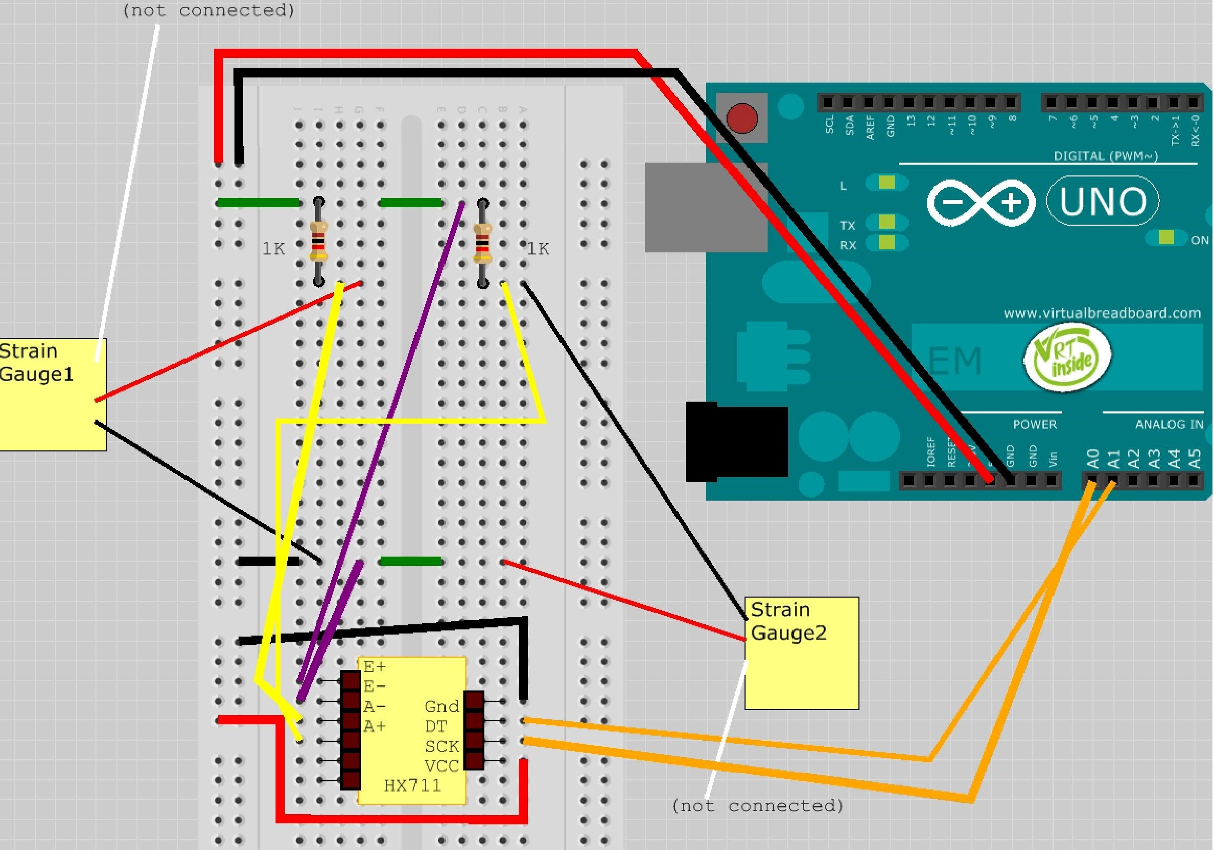 In A Wheatstone Bridge Strain Gauge Circuit Diagram Wiring