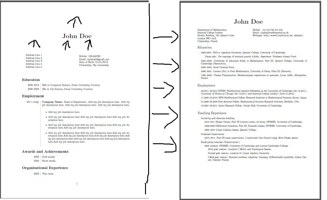 Page margins for resume