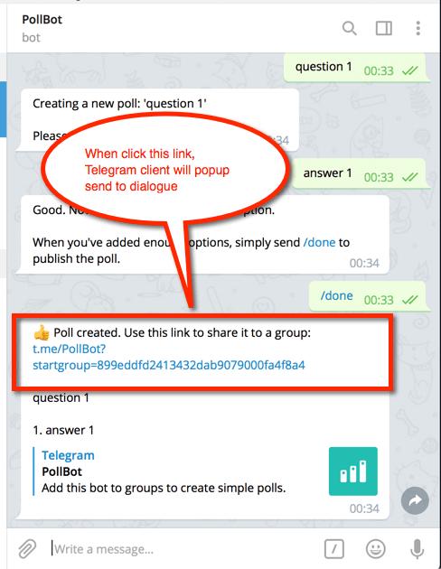 Telegram Url Schema Which To Trigger The Client Open Share Send Dialogue