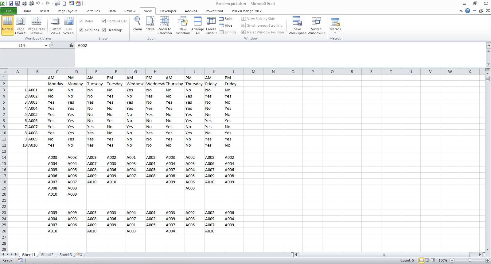 Creating A Module That Randomizes Non Numeric Values In Excel Vba