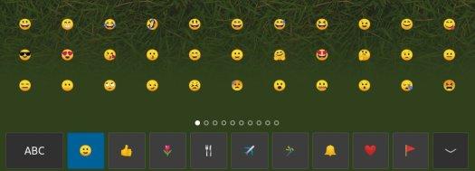 Touchscreen keyboard in 19.04 emoji keys