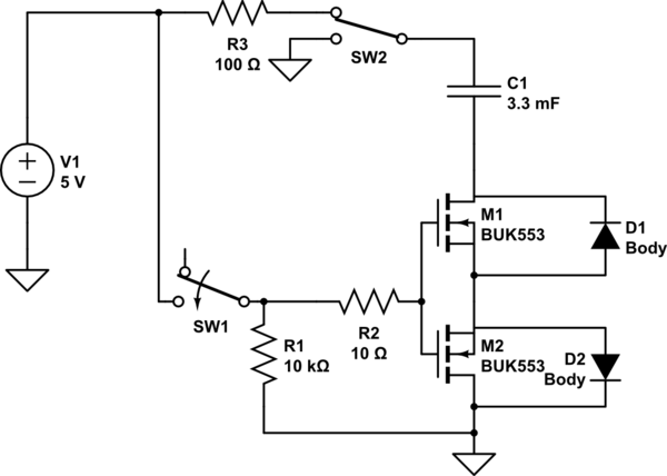 Leakage From MOSFET Switch To Ground