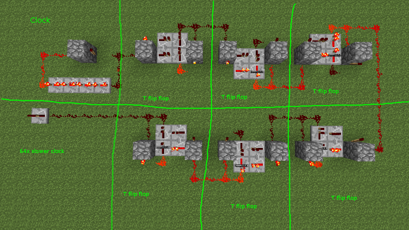 Monostable Circuit Minecraft Circuits