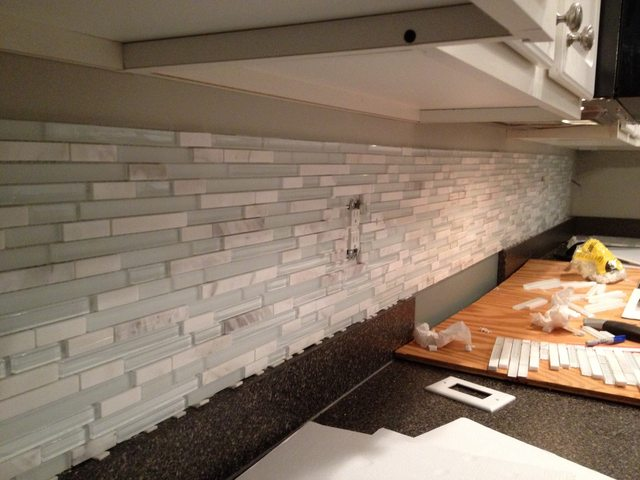 seal marble tile mixed with glass