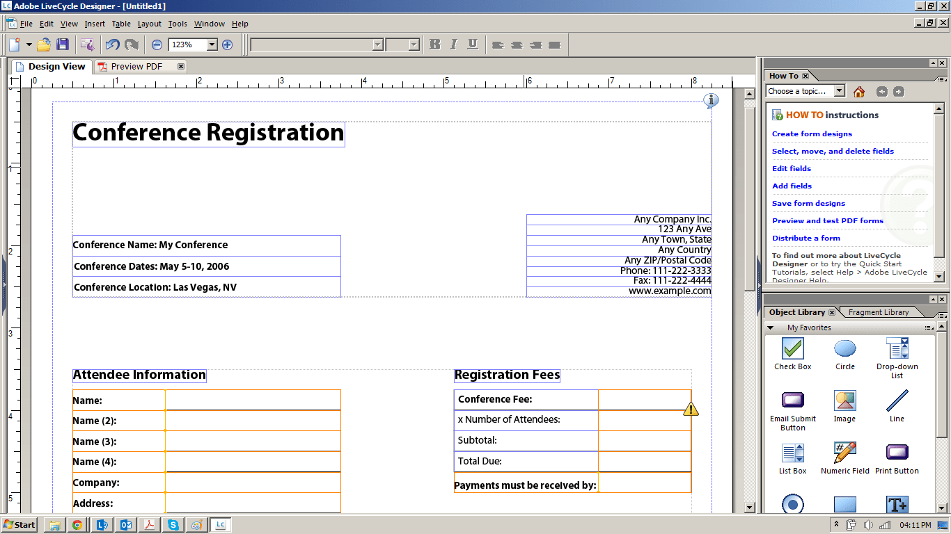 Can I Create A Form That Will Export The Questions And