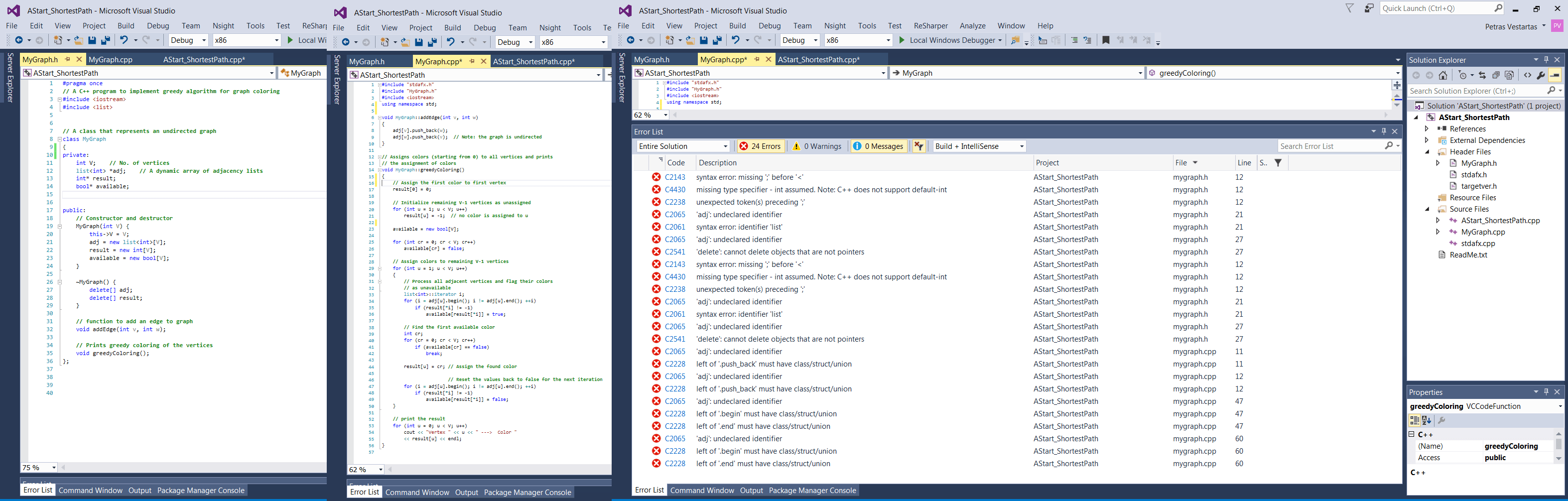 C Console Application Class Syntax Issue