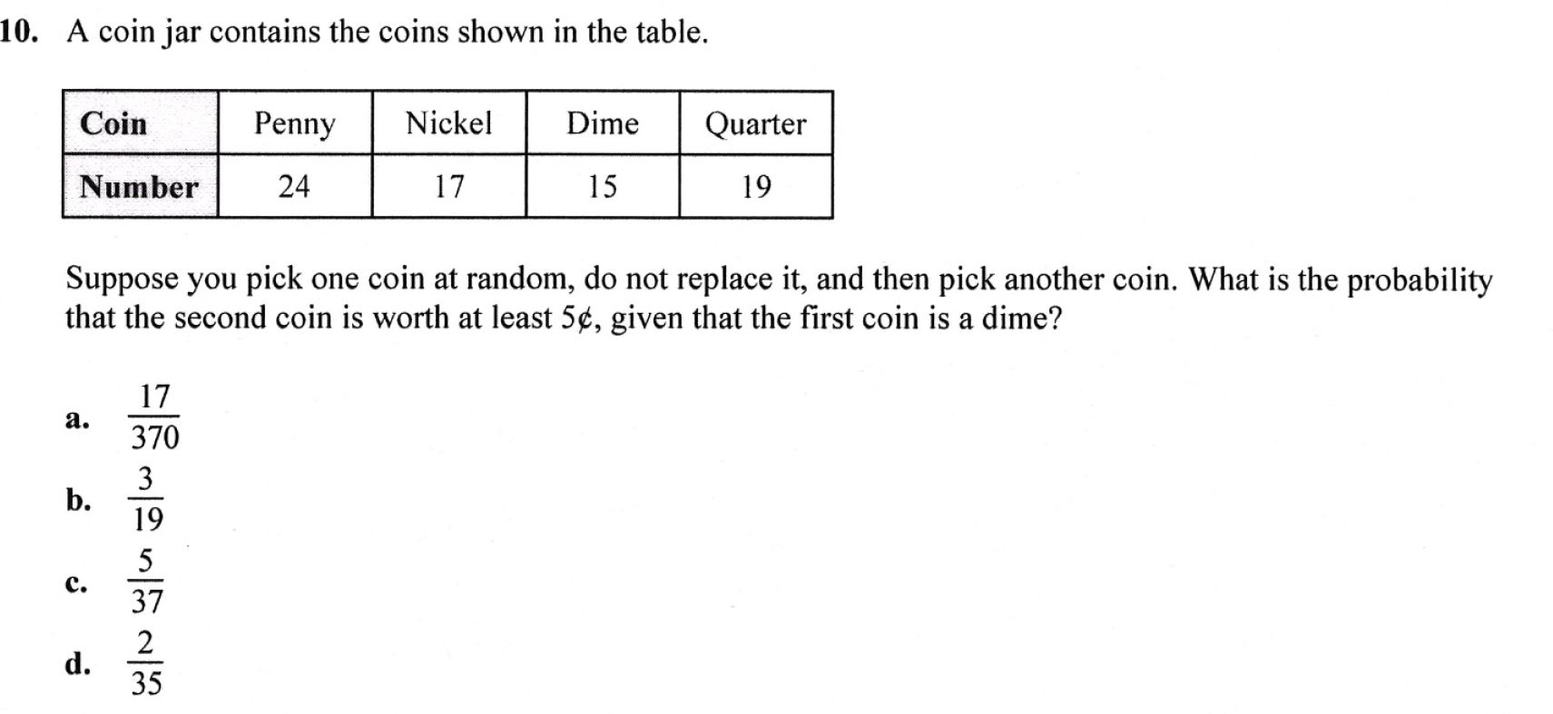Conditional Probability With Coins
