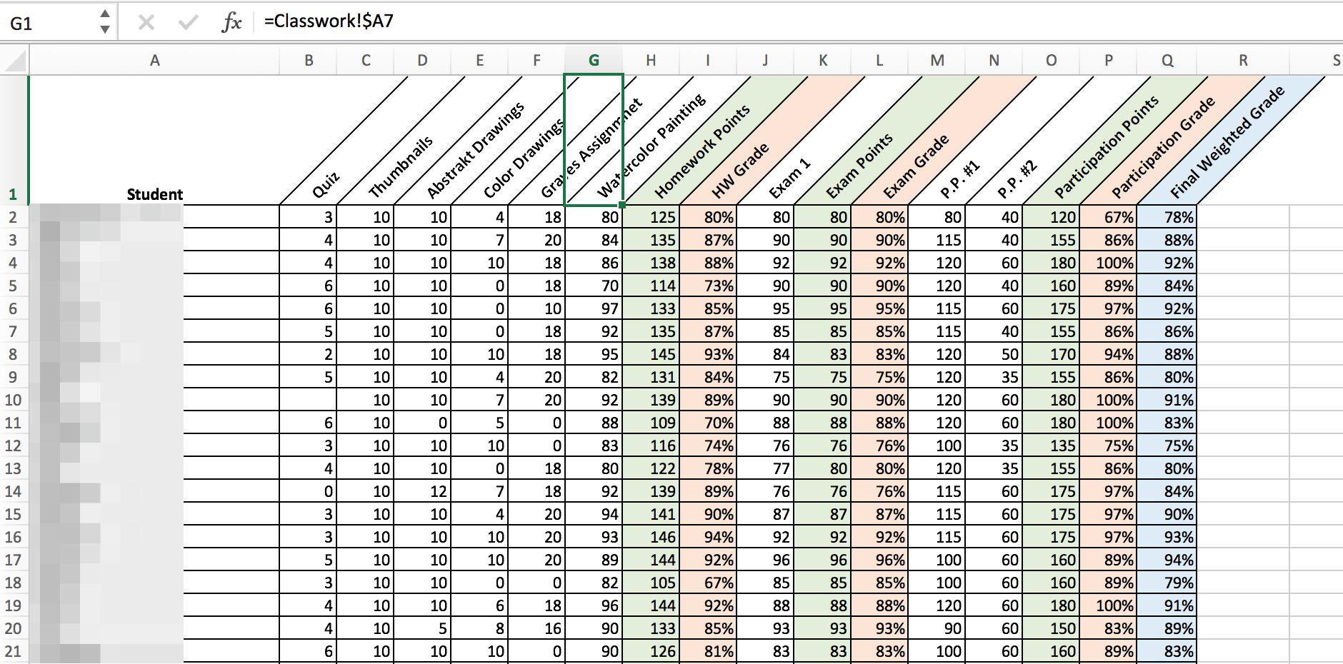 Excel Server Rack Template