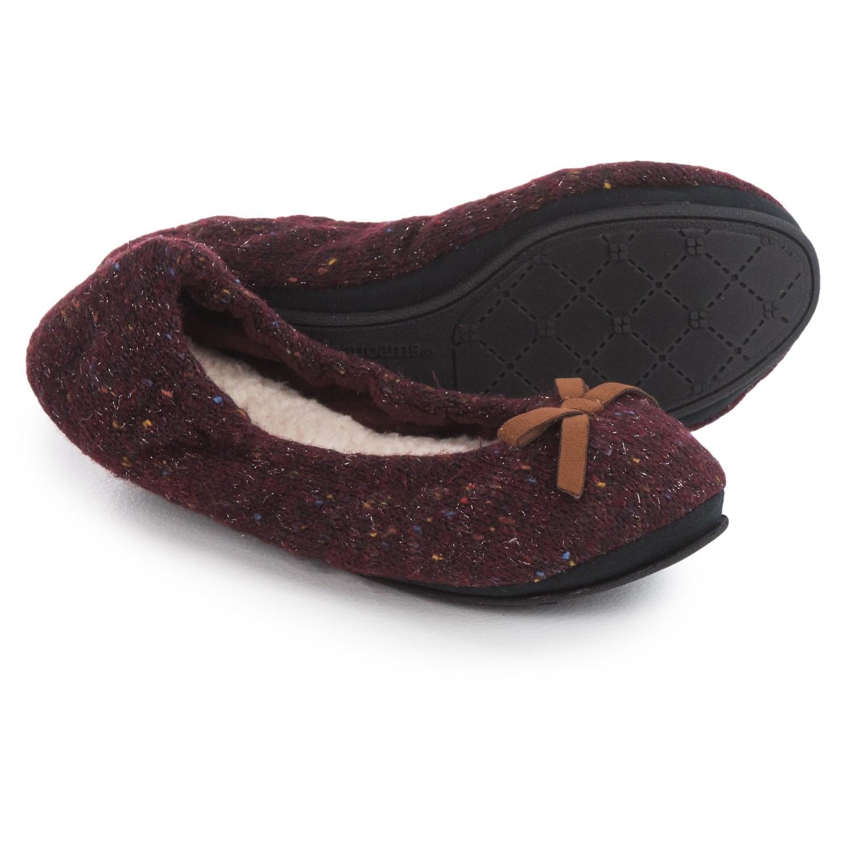 dearfoams ballerina bedroom slippers (for women) - save 61%