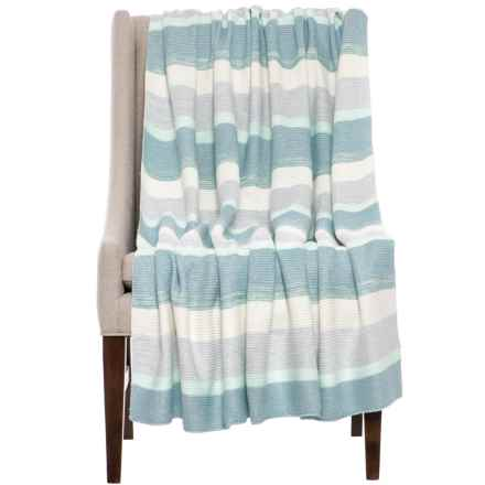 Nicole Miller Home Decor  Average savings of 40  at Sierra Trading Post Nicole Miller Mallorca Throw Blanket   50x60    in Blue   Closeouts