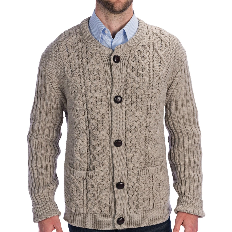 Shawl Collar Aran Knit Pattern