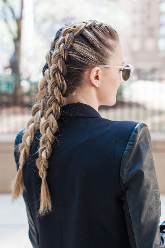 Picture Of Chic Diy Double Dutch Braids Try 2