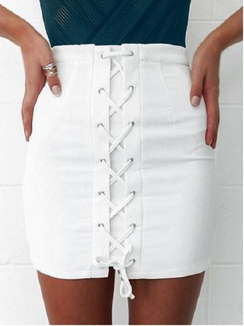 20 Cool Lace Up Skirt Outfits To Repeat Styleoholic