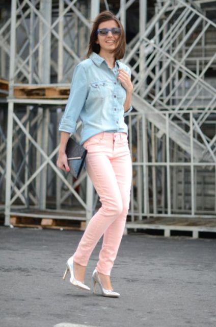 21 Feminine Pale Pink Pants Outfits Styleoholic