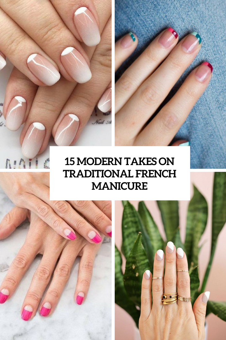 15 Modern Takes On Traditional French Manicure Styleoholic