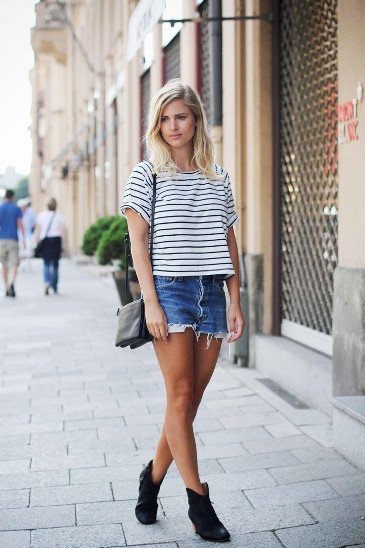 Image result for denim short outfits