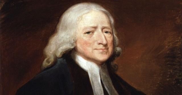 painting of methodist founder, john wesley