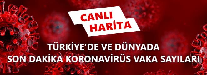 Canlı Corona Virüsü Haritası - Corona Virüsü Ölü ve Vaka Sayısı Son Durum