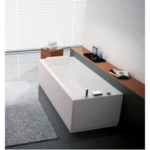 novellini baignoire balneo calos hydro plus 150x70 cm avec robinetterie et chassis